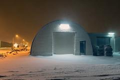 Warehouses in Grundarfjordur, Iceland (George Pachantouris) Tags: iceland north arctic cold winter snow white grundarfjordur ice frozen freeze nordics