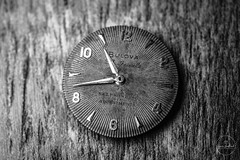IMG_5479logo (Annie Chartrand) Tags: watch pocketwatch time clock macro movement numbers dial face hands stilllife antique old classic bulova jewelry monochrome black white bw patina