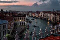 Venezia (R.o.b.e.r.t.o.) Tags: venezia venice italia italy tramonto sunset gondola venetianlagoon lagunaveneta sea mare acqua water gondole outdoor panorama landscape cityscape canalgrande grandcanal luci light