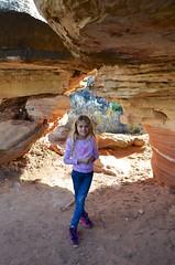 Violet On The Cave Spring Trail (Joe Shlabotnik) Tags: nationalpark justviolet utah hiking violet 2017 canyonlands november2017 canyonlandsnationalpark afsdxvrzoomnikkor18105mmf3556ged