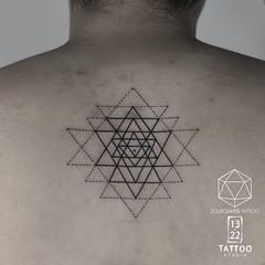 Geometric Tattoo (13.22 Tattoo Studio) Tags: mr j best 1322 tattoo studio sourgrapestattoo london art fineline queens park nw northwest nw6 abstract blackandgrey blackwork geometry