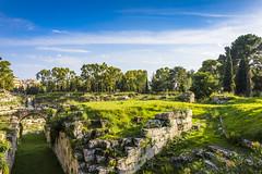 Roman amphitheatre - Siracusa (fede_gen88) Tags: siracusa syracuse italia italy sicilia sicily parcoarcheologico neapolis archeological site area park ruins nikon d7200