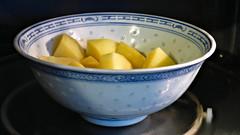 Making a potato salad (Sandy Austin) Tags: sandyaustin panasoniclumixdmcfz70 westauckland auckland northisland newzealand food homecooking potato sambol