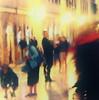 (bobbat) Tags: street night light people blur red scarf stradun dubrovnik