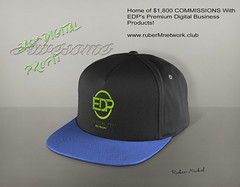 EDP Premium commissions (ruberMdesign) Tags: edp commission hat blue logo green setup sales design