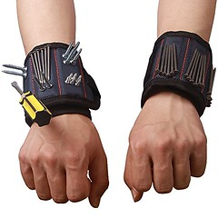 Durable Multi-purpose Magnetic Wristband with Strong Magnets For Holding Screws Nails Bolts Drilling Bits Screws and Small Tools The Best Tool Gift for DIY Handyman Men Women HSZ-12, 4 Packs - DiZiWoods Store (diziwoods) Tags: bits bolts diy diziwoods drilling durable gift handyman holding hsz12 magnetic magnets men multipurpose nails packs screws small store strong tool tools women wristband