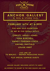 The Anchor Gallery - February 2018 at Peel & Stone, 374 High Street, Harborne, Birmingham (Iron Man Records) Tags: theanchorgallery peelandstone 2018 flyer poster art axhibition 374highstreet harborne birmingham westmidlands artist writer ironmanrecords collective volunteer grassroots rachelmayfield curator creative creatives brumculture culture meet meetingplace february 16th