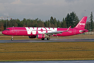 Wow Air Airbus A321-211 TF-GPA FRA 10-01-18