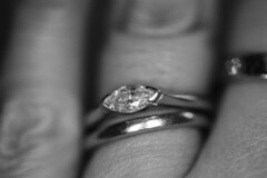 My most precious & beautiful rings. (Emma Dorber) Tags: 2018weeklyalphabetchallenge canoneos80d macro bisforbeautiful engagementring 100xthe2018edition 100x2018 image1100 blackandwhite