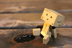 IMG_1640 (SethDanbo) Tags: danbo danboard danbox cardboard cardbox danbolove robot actionfigure action figure night tiny world little