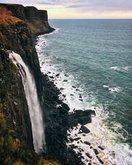 Kilt Rock & Mealt Falls (Jason Farrar) Tags: scotland waterfall iphone iphoneography nature rocks isle skye vacation