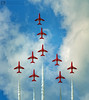 Concorde Formation (brian.m.denton) Tags: redarrows concordeformation eastbourneairshow theredarrows airbourne aircraft airshow aerobatics aeroplanes hawkjets jets briandenton eastsussex wwwtimecapturercom timecapturer sonya850dslr