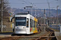Alstom NGT8G #206 GVB Gera (3x105Na) Tags: alstom ngt8g 206 gvb gera strassenbahn strasenbahn tram tramwaj deutschland germany niemcy thüringen