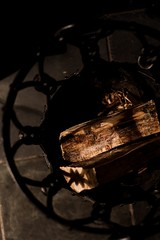 Day #16: 365 photo challenge: fire wood. (suehoots) Tags: day16 lightandshadows wood 365photochallenge