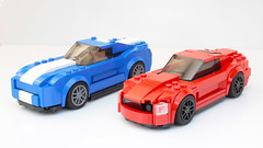 Lego Speed Champions Mustang GT moc/mod/no-stickers (hachiroku24) Tags: lego speed champions ford mustang gt moc mod stickers car afol