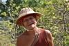 DSC_7347 (Kent MacElwee) Tags: guard myanmar burma sea asia southeastasia lake freshwaterlake inlelake shweindeinpagoda ruins buddhist buddhism ancient historic temple pagoda shanstate nyaungshwe indeinvillage monk buddhistmonk hat
