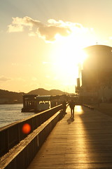 IMG_3739 (jumppoint5) Tags: cloud onomichi hiroshima japan pier urban light shadows contrast silhouette people street sun together flare sunset dusk