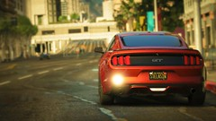 Mustang | GTA V (Stellasin) Tags: angeles game gaming car cars rain beauty graphics gta gtav weather screenshot mods ford sunset photography los mustang gt
