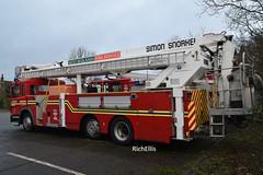 DSC_0004 - Copy (richellis1978) Tags: erf ec ec8 west midlands fire service appliance aldridge low cab special rare simon snorkel t277 t277uon uon saxon wmfs 117