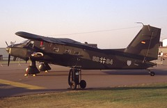 58+94. German Air Force  Dornier Do-28D-2 Skyservant (Ayronautica) Tags: 5894 dornierd28d2skyservant 1991 september luftwaffe germanairforce airshow uhf egua upperheyford scanned military aviation ayronautica
