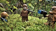 And  you too !? (NoeTum) Tags: grass wookie pentax starwars action wg2 moss guns forest clones