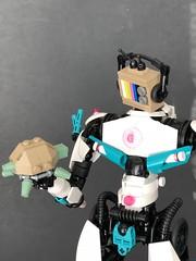 TV-Head (Luke_Staten) Tags: lego moc tv bionicle legomoc guitar vintage sneakers turtle retro