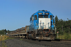 Logoless 650 (GLC 392) Tags: nsm north shore mining railroad railway tailing tailings train side dum silver bay mn minnesota emd sd403 650