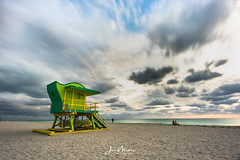 Green Looking Out to Sea (Wits End Photography) Tags: daybreak firstlight daylight sunup ocean sunrise cloudy morn dawn morning sky am miami light early clouds