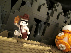Right Place, Wrong Time (JellyBeanie81) Tags: lego star wars force awakens bb8 stormtrooper indiana jones