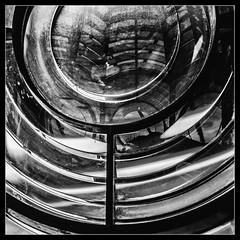 Oculus (Novocastria Photography) Tags: whitleybay lighthouse square stmarysisland seaside coast oculus oculi light glass window mono bw blackandwhite