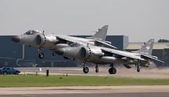 Sea Harriers (Bernie Condon) Tags: formation hmsheron yeovilton rn navy royalnavy rnas royalnavyairstation airfield bae seaharrier fa2 fighter attack military warplane vstol harrier strike jet jumpjet