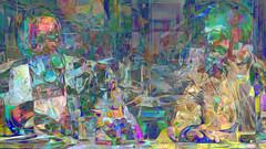 Zwiegespraech 11f im Buero (wos---art) Tags: bildschichten zwiegespräche dialog kommunikation auseinandersetzung beziehung gespräch unterhaltung gott god begegnung meeting