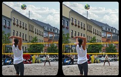 """Downtown """"Beach"""" Volleyball 3-D / CrossEye / Stereoscopy (Stereotron) Tags: saxony sachsen vogtland reichenbach beach volleyball city sports ball net europe germany crosseye crosseyed crossview xview cross eye pair freeview sidebyside sbs kreuzblick 3d 3dphoto 3dstereo 3rddimension spatial stereo stereo3d stereophoto stereophotography stereoscopic stereoscopy stereotron threedimensional stereoview stereophotomaker stereophotograph 3dpicture 3dglasses 3dimage twin casio exilim tonemapping streetphotography citylife"""