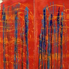 Caged  birds do not sing anymore (Peter Wachtmeister) Tags: artinformel art modernart artbrut minimalart abstract abstrakt acrylicpaint popart surrealismus surrealism hanspeterwachtmeister