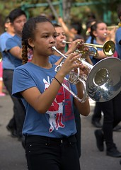 Blowing Their Horns (swong95765) Tags: band girl horn music marching parade highschool