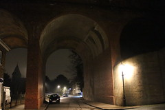 Cray Valley,16 (doojohn701) Tags: arches architecture streetlight car viaduct railway crayvalley dusk rain kent uk