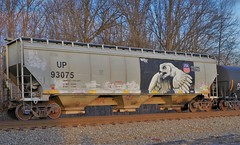 OWL 2 (Fan-T) Tags: 93075 up union pacific owl graffiti art covered hopper