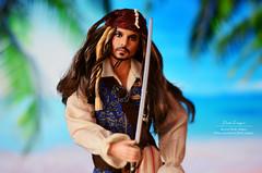 Jack Sparrow (Lindi Dragon) Tags: doll disney mattel ken jack sparrow captain