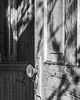 Old Church Door (Mike Schaffner) Tags: abandoned bw blackwhite blackandwhite chape1l church decay decayed derelict deserted dilapidated door knob monochrome old ruins
