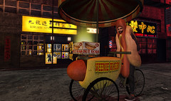 """""""Ask me about my weiner"""" (frankieedon) Tags: second life photo challenge hotdog"""