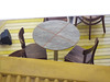 The Table-X Tableau (Steve Taylor (Photography)) Tags: roof tv television stripes chair table tableandchairs floor grey brown white yellow metal wood wooden asia singapore lines perspective
