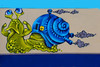NSDM in Amsterdam (Marco Braun) Tags: holland walart graffiti stencil streetart black white weiss blanche noire schwarz werft amsterdam niederlande netherland nsdm schablone 2017 colourfulcolored couleures farbig bunt face gesicht visage tete head kopf schnecke spirale spiral helix spirali tier anmal blue bleu blau haus house maison escargot augen eyes auge eye yellow gelb jaune explore inexplore slug nakt nue naked 蜗牛 螺旋 urban art kunst sprayer spraykunst explored 涂鸦