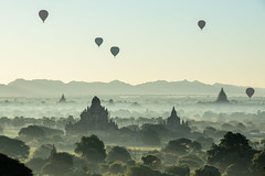 The air is the only place free from prejudice (Clems999) Tags: myanmar birmanie ballon montgolfiere hot air bagan temple sunrise