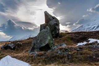 Big stone in Eyjafjordur