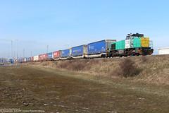 LTE 5633 - Europoort 04-03-2018. (NovioSites) Tags: trein train lte locomotive loc vossloh g1206 europoort po rotterdam portofrotterdam poznanshuttle rail netherlands