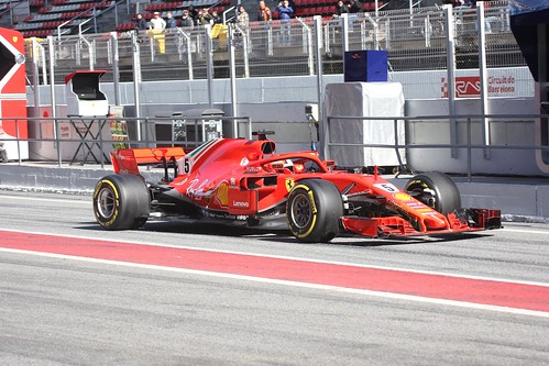Sebatian Vettel during Formula One Winter Testing 2018