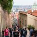 Subida para o Castelo de Praga