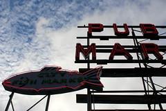IMG_2994 (tsmattea1) Tags: seattle public market fish seafood neon sign historic sale shopping