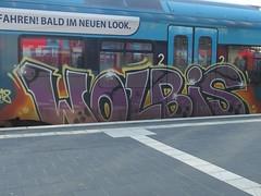 WOLBIS (mkorsakov) Tags: münster hbf bahnhof mainstation graffiti bunt colored train zug rb65 wolbis