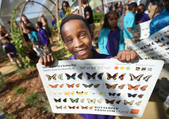 NHMLA Butterfly Pavilion (CEO_Countywide_Communications) Tags: losangelescounty naturalhistorymuseum butterflypavilion butterfly markridleythomas losangeles ca sd2 male boy sign pavilion environment children family education fieldtrip exposition park